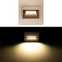 lâmpadas de vidro fosco venda por atacado-Lâmpadas de parede de vidro fosco barato moderno branco quente Ressessed quadrado colorido LED luzes internas para corredores de escadas
