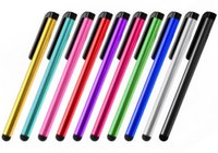 penna 100Pcs / Lot universale compresse stilo per Touch Screen vendita della penna stilo per Touch Smart Phone e tablet