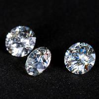 Wholesale Cut Diamond Shape - Most Brilliant E F Color 6.5mm Round Shape White Moissanite Stones Synthetic Loose Moissanite Gemstone Beads Diamond Test Positive