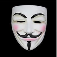 ingrosso resina maschera anonima-Alta qualità V per Vendetta Mask Resin Collect Home Decor Partito Lenti Cosplay Maschera anonima Guy Fawkes