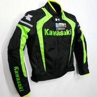 Wholesale Cross Waterproof Jacket - Wholesale-cross-border&kawasaki motorcycle off-road jackets  race Jacket  autorcycle jacket outdoor jakcet have protector jacket