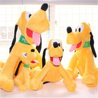 Wholesale Pluto Plush - Hotsale Wholesale 4pcs lot Pernycess original Pluto the dog plush toy doll goofy dog dolls plush dog pug soft toy