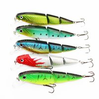 Wholesale Esca Fishing Lures - 1PCS Jointed Fishing lure 10.5CM 15G Minnow plastic artificial fishing wobbler tools jerk fish esca tackle