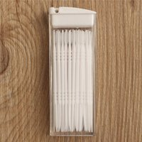 Wholesale Toothpick Korean - 2015 Fashion 50pcs box Toothpicks Plastic in Clear Case Korean Portable Eco-friendly No Smell With Cleaning Brush
