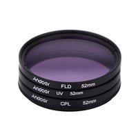 Wholesale 52mm Fld - Andoer 52mm Filter UV+CPL+FLD Circular Filter Kit Circular Polarizer Filter with Bag for Nikon Canon Pentax Sony DSLR Camera