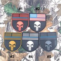 Wholesale American Flag Clothing Accessories - 2016 50pc Multicam The thin blue line Devgru SealTeam Punisher american flag DEVGRU SealTeam Tactical free ship 2207