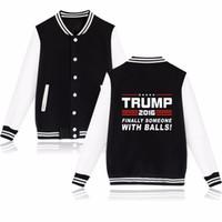 Wholesale Great Coat Women - Donald Trump Baseball Jacket Women Black and USA Presidential Make America Great Again Baseball Clothes Women Coat Jackets 2016 New