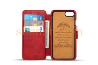 Wholesale Clamshell Mobile Phones - New deluxe phone cover iPhone7 case mobile phone shell clamshell protective sleeve 4.7 calf leather pattern card holder