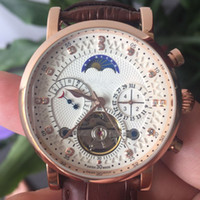 Wholesale Designer Leather Wrist Watch - High quality AAA mens watches Luxury brand designer mechanical automatic Leather band Diamond dial daydate wrist watch for men male relogios