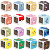 Poke Go LED colorato Alarm Change Digital Clock Pocket Pokémon Cartoon Orologi mostro bambini di favore di 60 stili di Pikachu Sveglie