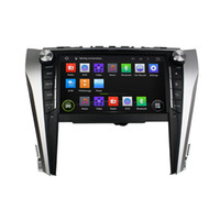 Wholesale Double Din Toyota - 9 Inch Capacitive multi-touch screen Andriod 5.1 Car DVD Player for Toyota Camry Quad core 16GB Double Din Can Bus GPS WIFI