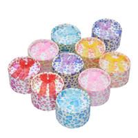 Wholesale Circular Gift Boxes - 20pcs 55*35mm Mixed color small circular ring box jewelry box gift boxs ring display box(Random color)