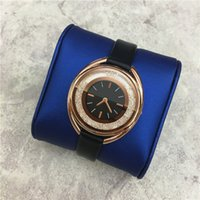 Wholesale Genuine Leather Rolls - New Arrivial Lady watch Multi Colors Genuine Leather Rolling Diamonds Women Quartz Female watch student luminous relogio masculine Free box