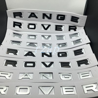 Wholesale Car Gloss - Car Styling For Range Rover Badge Letter Emblem Gloss Or Matte Black Silver Hood Rear Trunk Tailgate Emblem Sticker Nameplate Decal