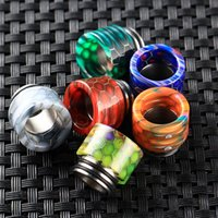 Wholesale baby grid - TFV8 Grid Drip Tips SS Epoxy Resin Drip Tip Wave Wide Bore Mouthpiece Fit TFV8 Big Baby TFV12 E Cigarette DHL Free