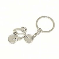 Wholesale Cheap Bike Design - DHL Free Shipping Creative Design Mini Bicycle Shape Keyring Tour Of France Souvenir Gift Cheap Bike Shaped Keychain For Wholesale