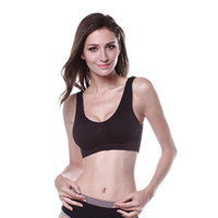 Wholesale Printed Bra Straps - Wholesale-Women Cozy Seamless Bra Tops Sports Running Underwear Athletic Costume