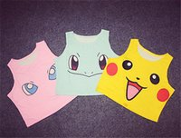 Wholesale Tank Girl Gifts - Newest Poke go pikachu Tank Tops shirts Girls women Cosplay Costume Pocket Monster Sailor Moon Cute Crop Tops Vest Tank Tops Shirt gifts