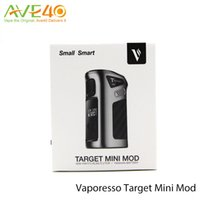 pil bağlantısı toptan satış-Vaporesso Hedef Mini Kutu Mod 1400mAh Pil 40w Hedef Mini Mod Sadece Mod Link Dahili
