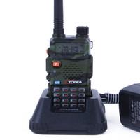 telsiz 8w toptan satış-Walkie Talkie TONFA UV-985 8 W 128CH UV-985 çift bant VHF136-174 MHz UHF400-470 MHz iki yönlü radyo UV985 Ücretsiz Kargo