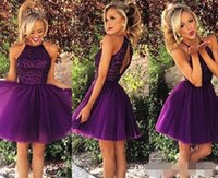 Wholesale Little Girl Dance - Short Homecoming Dresses 2017 for Summer 8th Grade Dance Girls Back to School Sweet 16 Graduation Teens Sale Fashion Ball Prom Cocktail Gown