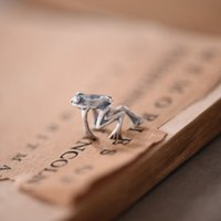 Wholesale Offbeat Wholesale - Wholesale-Hot Sale Frog Ear Clip Personality Earrings 925 Sterling Silver Non Perforated Retro Men Women Exaggerated Offbeat Jewelry
