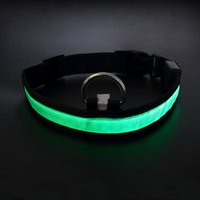Wholesale Assorted Led Lights - Assorted Color 3 Size LED Pet Dog Cat Flashing Light-up Glow Safety Nylon Collar Christmas Gifts free shipping