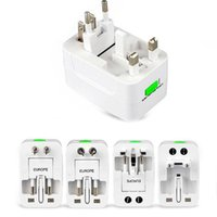Wholesale travel adapters online - All in One Universal International Plug Adapter World Travel AC Power Charger Adaptor with AU US UK EU converter Plug CAB162