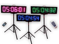 "Wholesale Race Timing Clock - EU 8"" 6 digits RGB outdoor Double Sided LED Race Timing Clock For Running Events Countdown up stopwatch IOS(IPhone) and Android are supporte"