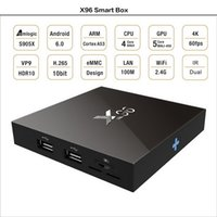 Wholesale android game hdmi resale online - X96 Android TV BOX GB GB G Smart Mini PC Amlogic S905X Quad Core H Media Player Wifi HDMI A Xbox Game P Home Theater