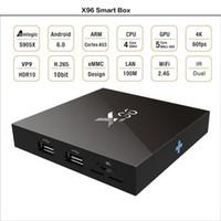 Wholesale Xbox Wifi - X96 Android 6.0 TV BOX 2GB 16GB 1G Smart Mini PC Amlogic S905X Quad Core H.265 Media Player Wifi HDMI 2.0A Xbox Game 1080P Home Theater