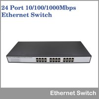 Wholesale 24 port Mbps gigabit Ethernet switch with black steel case high speed rack mounted Ethernet Switch