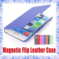 Wholesale Plastic Magnetic Clips - Samsung Galaxy J1 J7 S6 S7 iPhone 6 6s plus LG G4 K7 Grand Prime LG G4 Thin Slim Magnetic Flip Leather Cases 01
