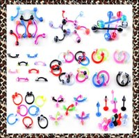 Wholesale Mixed Resin Clips - Mix styles 100Pcs Lot Goth Punk Clip On Piercing Body Fake Nose Lip Rings Hoop Ear Eyebrow Tongue Ring Unisex Body Jewelry Wholesale