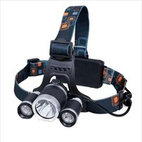 Wholesale Led Bike Cree 3x - 6000Lm 3x CREE XM-L XML T6 LED Headlight Zoomable LED Headlamp Bike Light Flashlight By 2x 18650 Battery