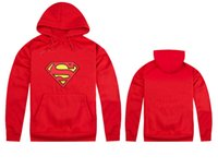 Wholesale Superman Long Jacket - Wholesale Marvel sweatshirts superman hoodies for man Hiphop Jackets Jumpers Pullover Hoodies sportswear Size S-XXL
