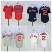 Wholesale Dry Goods - Newest 2 Xander Bogaerts Jersey Flexbase Baseball MLB Boston Red Sox Jerseys Cool Base White Blue Red Grey Fashion Stitching Good Quality