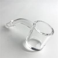 Wholesale quartz wall - New 3mm Thick Walls 4mm Bottom Quartz Banger Nail Water Pipes with 25mm XL Flat Top Honey Bucket 10mm 14mm Quartz Domeless Nails