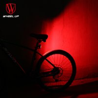 Vente en gros WHEEL UP 2017 USB Recharge Warning Tige de selle Tail-light Cool Modes de forme MTB Road Bike Light Front pour Night Bicycle Back Light