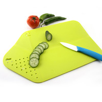 Wholesale Wholesale Kitchen Cutting Boards - Cutting Chopping Board Plastic Cutting Boards Portable Anti Slip Non Toxic Multi Function Foldable Hanging Chopping Boards Outdoor Use