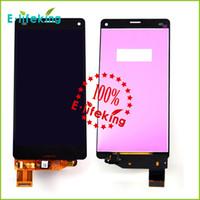 display z3 compact venda por atacado-Display lcd touch screen com digitador assembléia para sony z3 mini compacto d5803 d5833 lcd frete grátis