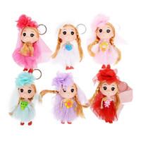 gummipuppe für frauen großhandel-Neue Design Nette Prinzessin Puppen Schlüsselanhänger für Frauen Souvenir Geschenk Gummi Schlüsselanhänger Zubehör Zufällig Farbe