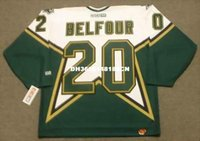 Wholesale Belfour Jersey - Cheap custom retro ED BELFOUR Dallas Stars 1999 CCM Jerseys Throwback Home Jerseys Throwback Mens stitched Hockey Jersey
