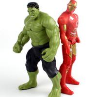 brinquedos quentes homem de ferro venda por atacado-Hot Avengers Incrível Hulk Hulk Homem De Ferro Hulk Buster Idade De Ultron Hulkbuster 18 cm Pvc Brinquedos Figura de Ação Hulk Smash