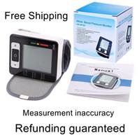 Wholesale Blood Pressure Pulse Oximeter Monitor - home use portable wrist blood pressure monitor health care pulse oximeter heart beat meter blood pressure meter