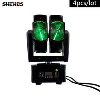 4 teile / los 8x10 Watt RGBW 4in1 Moving Head Licht für Bühne DJ Party Hochzeit Bar Led-lampe Bühneneffekt Lichter doppel rad strahl moving head