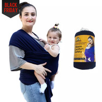 Wholesale Backpack Carry Baby - 2017 100% cotton solid baby carriers Multifunctional Infant Breastfeed Sling Baby Stretchy baby Wrap Backpack Bag kids Breastfeeding hipseat
