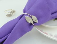 Wholesale Crystal Napkin Rings Wholesale - 2016 New Fashion Futaba Grass Crystal Rhinestone Napkin Rings Metal Tablecloth Ring For Hotel Wedding Banquet Table Decoration Accessories