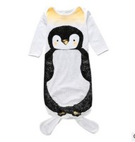 Wholesale Mixed Sleepwear - Mix Baby mermaid sleeping bag Fat penguin sleepwear infants bodysuits Ins 2016 autumn cotton Protect belly Anti-kick 0-1years 1-2years