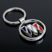 Wholesale Fashion Bmw - Fashion Car Logo Metal Alloy Key Chain Keyring Car Keychains Business Gift Buick BMW Ford